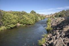 Река восточный Орегон Warm Springs около resor Kahneeta Стоковая Фотография