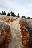 Река восходящего потока теплого воздуха Йеллоустона Стоковое фото RF