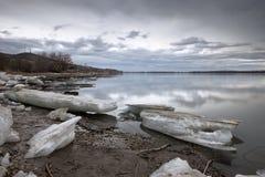 Река Волга весной стоковое изображение rf
