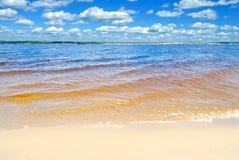 Река Волга, Чувашия, Российская Федерация. Стоковые Изображения