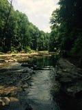 Река водя к водопаду Стоковое Фото