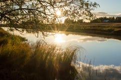 Река в вечере Стоковое Фото
