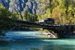 Река в восточном Казахстане, горах Altai Стоковые Изображения RF