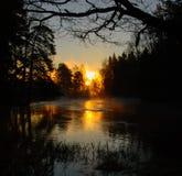 Река в восходе солнца Стоковая Фотография
