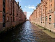 Река в Гамбурге стоковое изображение rf