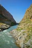 Река в горах Стоковая Фотография