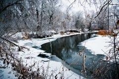 Река в зиме Стоковое Фото
