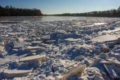 Река в зиме стоковая фотография rf