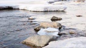 Река в зиме сток-видео