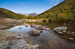 Река в Корсике стоковая фотография rf