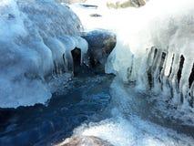Река в льде стоковая фотография rf