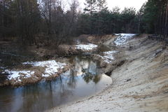 Река в основании escarpment Стоковое фото RF
