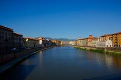 Река в Пизе Стоковая Фотография RF