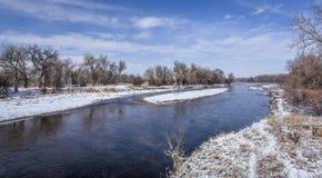 Река в равнинах Колорадо стоковые фото