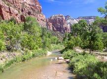 Река в Сионе Стоковые Изображения RF