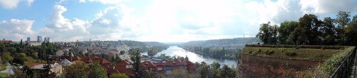 Река Влтавы в Праге Стоковая Фотография