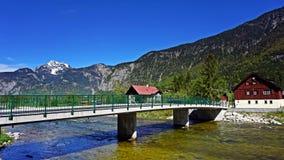 Река в alps Стоковая Фотография