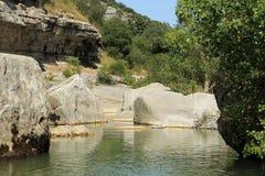 Река в Ardeche, Франции Стоковые Изображения RF