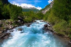 Река в Ecrins национальном Parc в Франции Стоковая Фотография RF