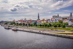 Река в Szczecin стоковое изображение