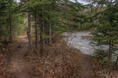 Река голубя пропускает через грандиозный парк штата и Indi Portage Стоковое Изображение RF