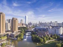 Река города стоковое изображение rf