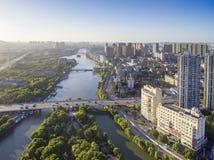 Река города стоковые фотографии rf