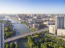 Река города стоковые изображения rf