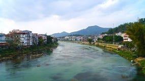 Река города северного Вьетнама Стоковое Изображение