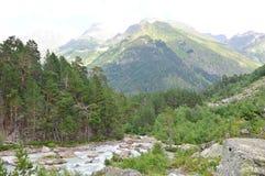 Река горы, ландшафт Стоковые Изображения