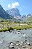 Река горы, ландшафт Стоковые Фото