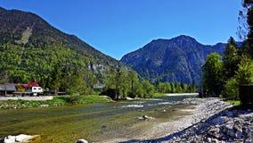 Река горы в Альпах Стоковые Фотографии RF