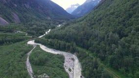 Река горы в Аляске сток-видео