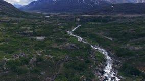 Река горы в Аляске видеоматериал