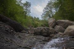 Река горы в каменной кровати Стоковое Изображение
