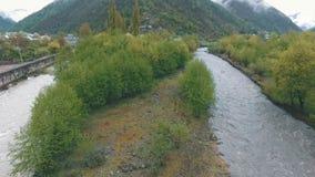 Река горы в Georgia видеоматериал