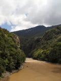 Река горы в Georgia, Adjarija Стоковые Изображения