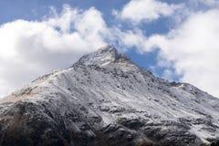 Река горы и окружающая среда ландшафта деревьев hiking alps Покрашенные холмы, большие горы Стоковые Изображения RF