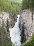 Река горы на канадских скалистых горах Стоковое Фото