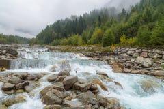 Река горы около Entreves стоковое фото rf
