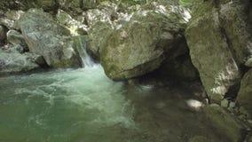 Река горы пропуская среди камней видеоматериал