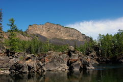 река горы свободного полета каменистое Стоковое Фото