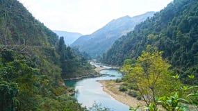 Река горы северного Вьетнама Стоковая Фотография RF