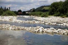 Река горы с утесами Стоковое фото RF