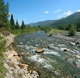 река горы Стоковые Фотографии RF