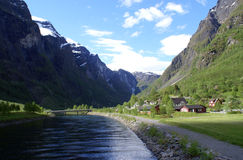 река гор ландшафта сельское Стоковые Изображения RF