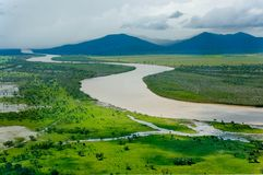 река гор ландшафта Стоковые Фото