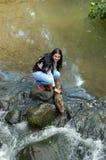 река девушки Стоковые Фотографии RF