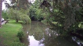 Река деревни Eardisland стоковое фото rf