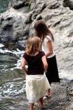 река детей банка Стоковая Фотография RF
